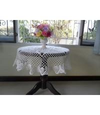 ผ้าปูโต๊ะกลมแบบถัก