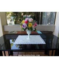 ผ้ารองแจกันดอกไม้สไตล์ผ้าลูกไม้
