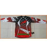 เสื้อวิบากแขนยาว ผ้าเจอซี่ ยี่ห้อ Alpinestars สีดำ-แดง/A029
