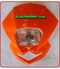 หน้ากาก ทรง KTM มีสีส้ม,ขาว,ดำ