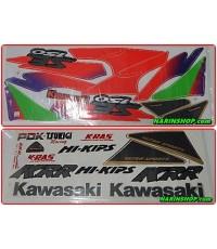 สติกเกอร์ KAWASAKI-KRR-SE ปี 1997 รุ่น 2 ติดรถสีเขียว