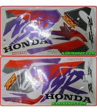 สติกเกอร์ HONDA-NSR-R ปี 1996 ติดรถสีแดง