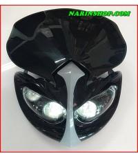 หน้ากากแต่ง ทรง UFO TOP 3 ตา มีสีดำ