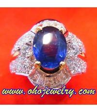 (ขายแล้วค่ะ) แหวนไพลินล้อมเพชร ดีไซน์เก๋,แหวนพลอยไพลินล้อมเพชรแท้,แหวนพลอย,แหวนพลอยไพลิน,ไพลินคัดสวย