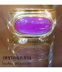 แหวนทับทิมประดับเพชร เพชรคัดสวย ขาวน้ำ 98 ความสะอาด VVS ราคาโรงงาน จากเราผู้ผลิตโดยตรง