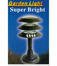 โคมไฟฟ้าพลังงานแสงอาทิตย์ SOLAR GARDEN LIGHT ::รุ่นทรงสูง 3 ชั้น::ติดตั้งที่หัวเสาได้ครับ