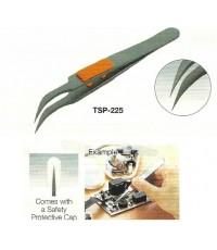 ทวิสเซอร์เคลือบฟลูออรีนที่จับหุ้มยาง Rubber Grip Fluorine Stainless Steel Tweezer-Trusco (TSP-225)
