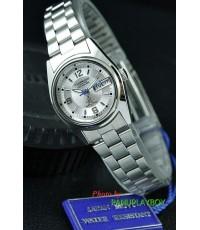 นาฬิกาข้อมือสตรี US SUBMARINE คุณภาพเยี่ยม แสดงวัน-วันที่ (หน้าปัดเงิน)