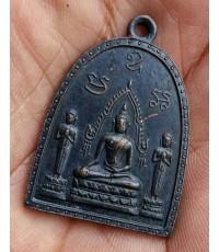 พระเหรียญพระพุทธ โมคคัลลาน์-สารีบุตร วัดศรีพโลทัย จ.ชลบุรี ปี 2517 หลวงปู่ทิม วัดระหารไร่ ปลุกเสก