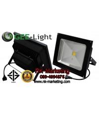 สปอร์ตไลท์ LED 50w GEE-LIGHT มอก. แสงสีเหลือง