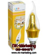หลอดไฟเปลวเทียน LED 4w แสงสีขาว (E14)