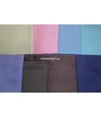 ผ้าสีพื้นผ้าฝ้ายทอมือ(ซักอาบน้ำยาแล้ว)