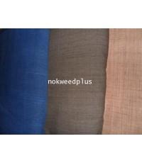 ผ้าสีพื้นผ้าฝ้ายทอมือย้อมสีธรรมชาติ