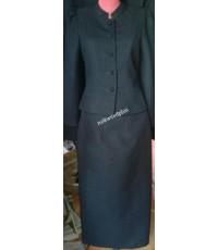 ชุดเสื้อผ้าฝ้ายพร้อมผ้าถุงสีดำล้วน(อัดผ้ากาวแล้ว)