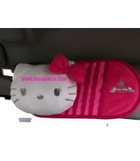 คิตตี้น่ารัก ประดับยนต์ หุ้มเบาะ kitty-03 : ช่องใส่ซีดีติดที่บังแดด