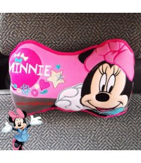 หมอนรองคอทรงกระดูกมินนี่เมาส์ Minnie mouse happy สินค้าลิขสิทธิ์แท้ แพคคู่ราคาพิเศษ