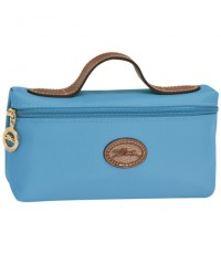 *พร้อมส่ง* LONGCHAMP Le Pliage Cosmetic Case ~ Blueberry