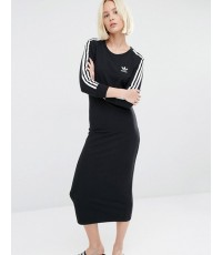 *พร้อมส่ง* ADIDAS Originals Three Stripe Maxi Dress ~ Size US 6