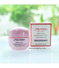 Tester : Shiseido WHITE LUCENT  Brightening Gel Cream 15ml.