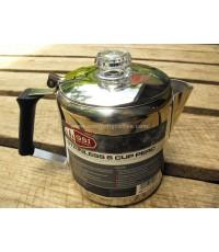 หม้อต้มกาแฟเพอร์โคเลเตอร์ [GSI Outdoor stainless percolator], 6 cups