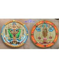 พระผงนารายณ์ทรงครุฑ เนื้อผง 4.5 ซม. วัดหน้าพระเมรุ Thai Amulet