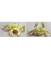 แมงมุมดักทรัพย์ เนื้อสัมฤทธิ์ชุบทอง ขนาด 3 x 1.8 ซม. รุ่นอายุยืน หลวงปู่คีย์  วัดศรีลำยอง 2556