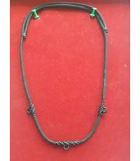 สร้อยเชือกไนล่อน เส้นใหญ่ ห้อยพระ 3 องค์ ฟรีไซต์ Nylon rope neckless อุปกรณ์