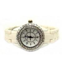 นาฬิกาข้อมือ สายสีขาวสำหรับสาวเรียบร้อยและมีเสน่