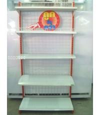 ชั้นวางสินค้า 1 หน้า 45x90x180cm.แบบแผ่น 5 ชั้นรวมฐาน