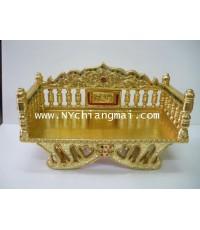 หิ้งพระไม้สัก(แหย่ง)ลงรักปิดทองsizeใหญ่ ยาว35ลึก25cm สินค้าหัตถกรรม(HandMade)จากเชียงใหม่ ของวัญ ของ
