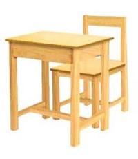 โต๊ะเก้าอี้นักเรียนไม้ยางพาราระดับประถมศึกษา
