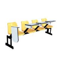 เก้าอี้โพลีฯ แถวเลคเชอร์ 4 ที่นั่ง  แบบเหวี่ยง