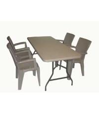 โต๊ะพับอเนกประสงค์ MC180T พร้อมเก้าอี้ 4 ตัว