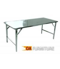 โต๊ะพับหน้าสแตนเลส 5 ฟุต 74x150