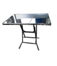 โต๊ะพับสแตนเลส 24x42