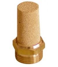 วาล์วลดเสียงทองเหลือง ขนาด 1/4 นิ้ว