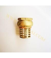 ฟุตวาล์วทองเหลืองธรรมดา (หัวกะโหลกทองเหลืองดูดน้ำ) ขนาด 1.1/4 นิ้ว