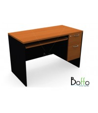 BF1202C-F โต๊ะคอมพิวเตอร์  2 ลิ้นชัก ขนาด 120(ก)*60(ล)*75(ส) ซม.