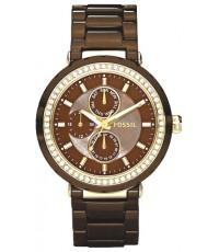 นาฬิกา Fossil CE1046 women\'s Allie Ceramic Watch - Chocolate