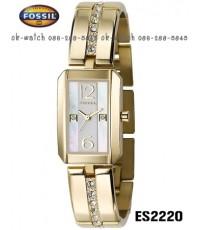 นาฬิกา Fossil Analog Champagne MOP Dial Watch ES2220