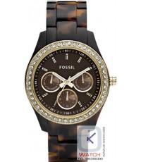 นาฬิกาข้อมือผู้หญิง Fossil รุ่น ES2795 Plastic Analog with Brown Dial Watch