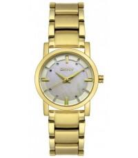 นาฬิกาข้อมือผู้หญิง DKNY รุ่น NY4520 Crystal Accented Gold-Tone Stainless Steel Watch