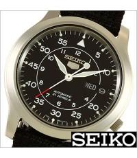 นาฬิกา SEIKO 5 Military 21 Jewels Automatic รุ่น SNK809K2 สายผ้าสีดำ