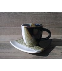 Coffee Cup/Square Saucer