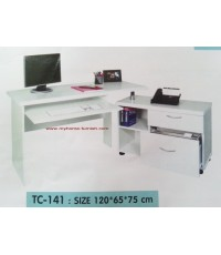 โต๊ะทำงาน+ตู้ข้าง