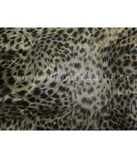 ปลอกหมอนข้าง ผ้าซาตินแท้ 330 เส้น ลายเสือดำใหญ่ (น้ำตาล)