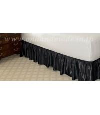 สเกิร์ตเตียงแบบจีบรูด ผ้าซาตินแท้ 440 เส้น ขนาด 6 ฟุต (72 นิ้วx78 นิ้วx11 นิ้ว)