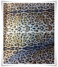 ผ้าปูที่นอนและผ้านวมผ้าซาตินแท้ 330 เส้น ขนาด 5 ฟุต (6 ชิ้น) ลายเสือชีต้าใหม่ น้ำตาลอ่อน