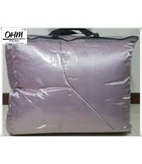ผ้านวมคลุมเตียง ผ้าซาตินแท้ 440 เส้น ขนาด 6 ฟุตพิเศษ (ขนาด 90 นิ้ว x 100 นิ้ว) สีชมพูเบส