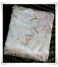 ผ้าปูที่นอนผ้าซาตินแท้ 440 เส้น ขนาด 3.5 ฟุต ลายดอกลิลลี่โอรส